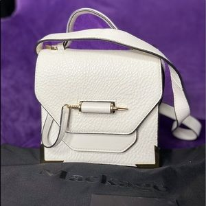 Mackage Rubie Small town Crossbody in white/gold